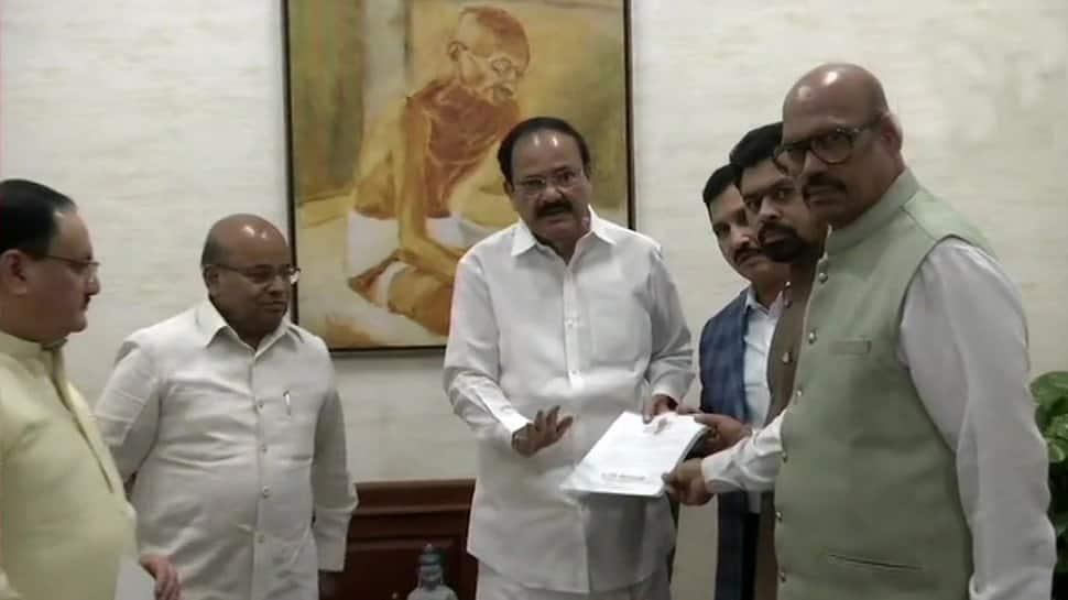 Four TDP Rajya Sabha MPs break away and merge with BJP