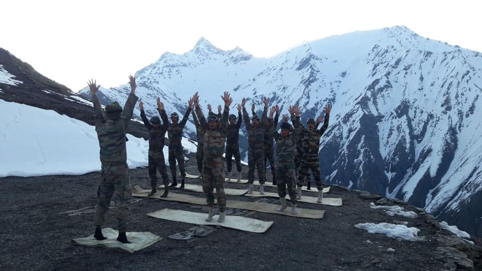 Defence, paramilitary forces practice yoga across nation on International Yoga Day