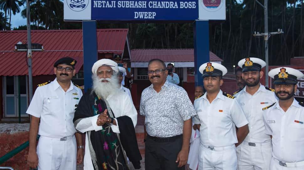 Andaman and Nicobar Command celebrates International Yoga Day with Sadhguru