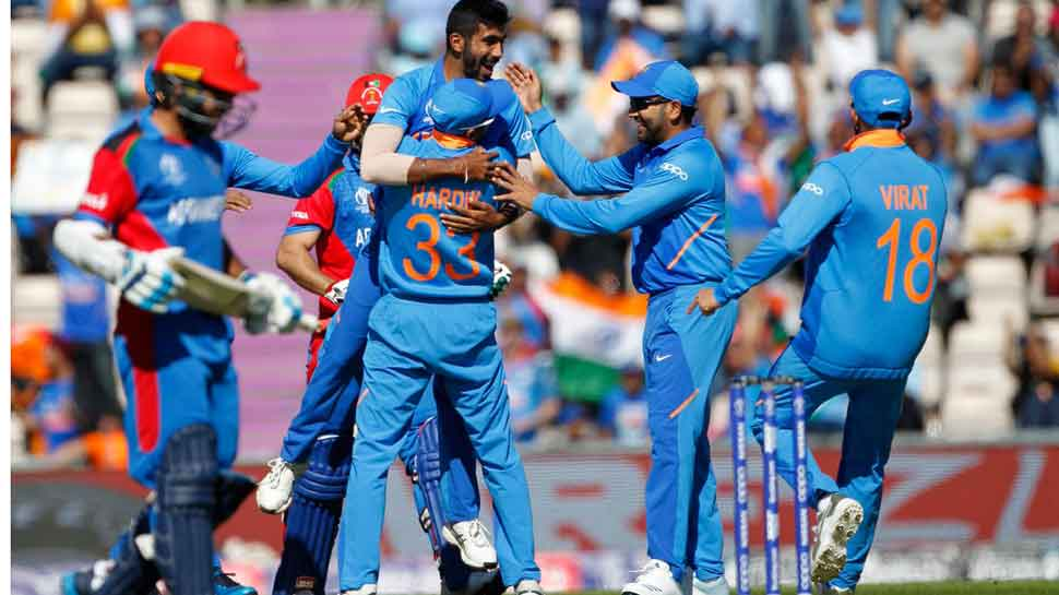 India ride on Mohammad Shami hat-trick to subdue gritty Afghanistan for 50th World Cup win