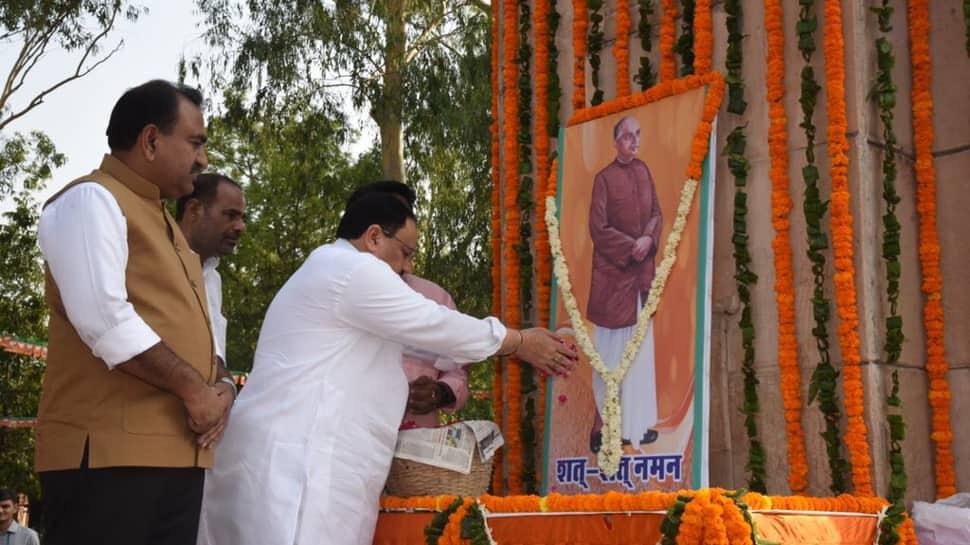 Vice President Venkaiah Naidu, Amit Shah, Rajnath Singh, BJP leaders pay tribute to Shyama Prasad Mukherjee on his death anniversary