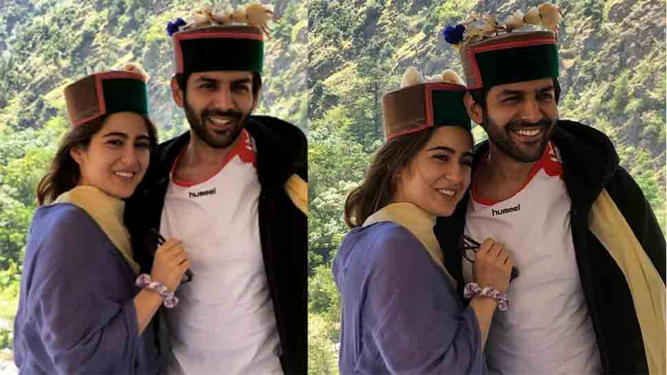 Sara Ali Khan, Kartik Aaryan's latest picture in traditional Himachali caps goes viral on Internet — Check out