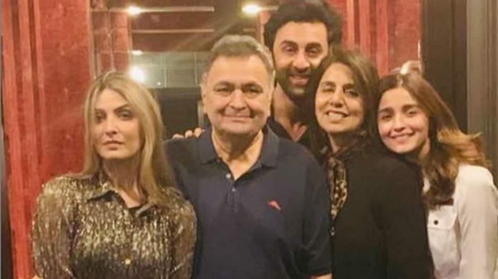 Rishi Kapoor's family time with Ranbir, Alia, Aishwarya and Abhishek calls for freeze frame—Pics