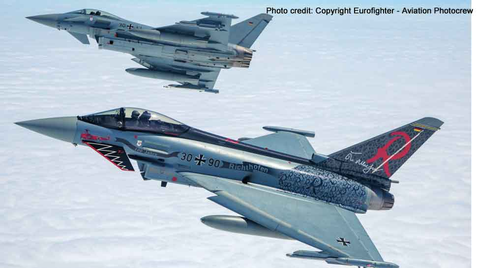 Two German Air Force Eurofighter Typhoon jets collide mid-air, one pilot killed