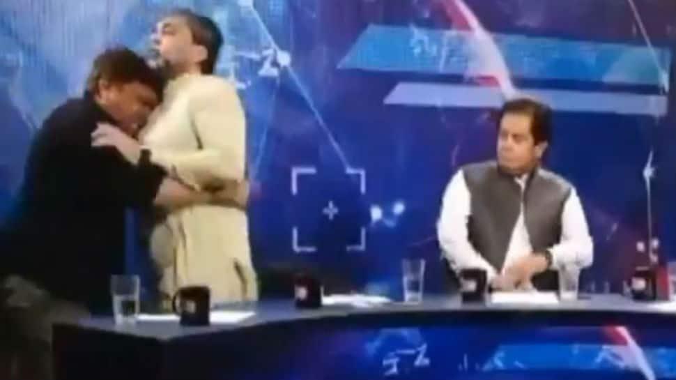 Watch: Pakistani politician assaults journalist during TV debate, video goes viral