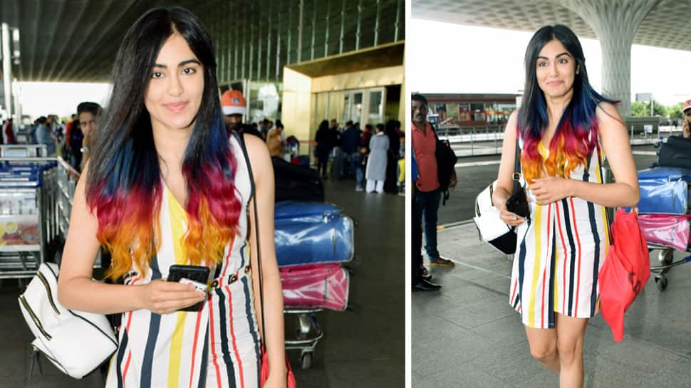 Adah Sharma shows off her colourful mane in style - Pics inside