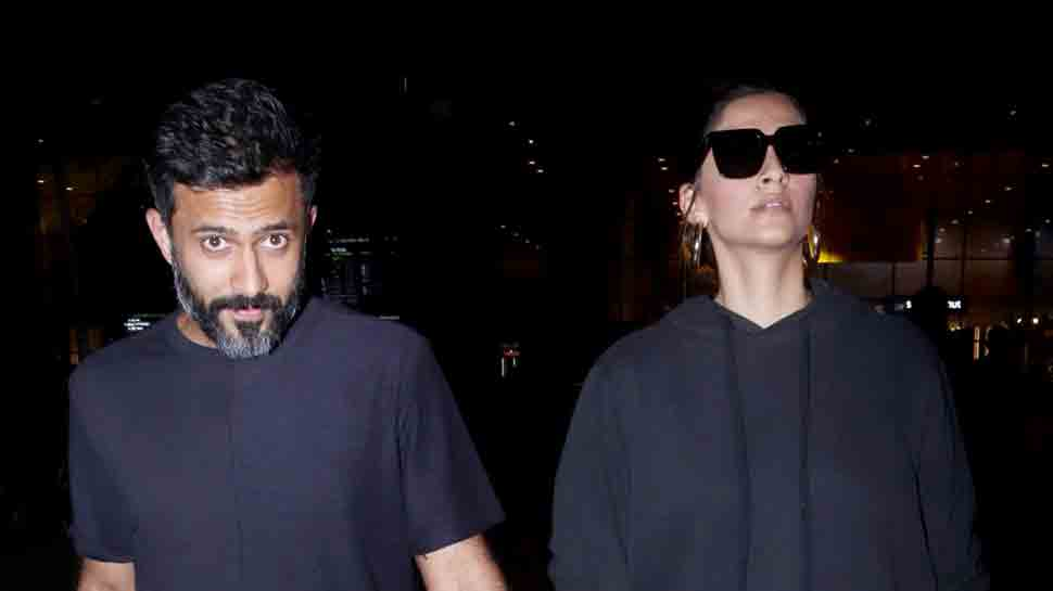 Sonam Kapoor, Anand Ahuja twin in black as they return from romantic gateway in Japan — Pics