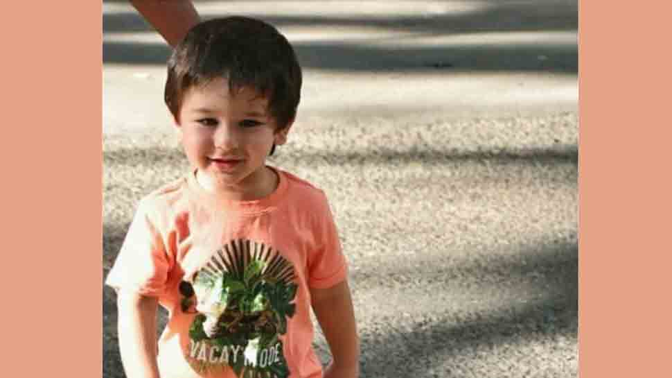 Taimur Ali Khan enjoys his playground time on swing in London — See pic