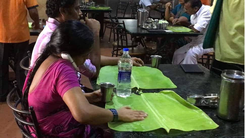 Chennai restaurants avoid plates to save water, serve food on banana leaves