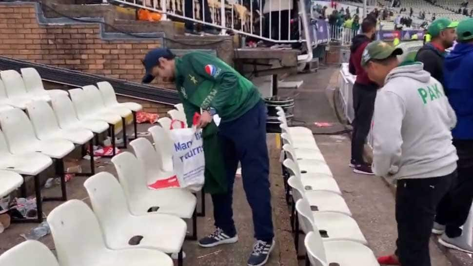 Pakistani fans clean stadium post New Zealand win at Birmingham, video goes viral
