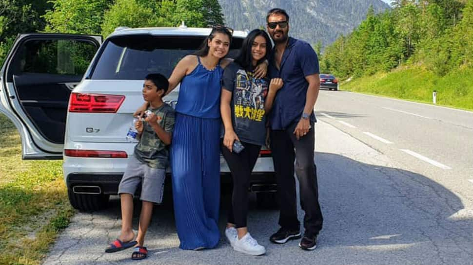 Pics from Ajay Devgn and Kajol's family vacay in the mountains