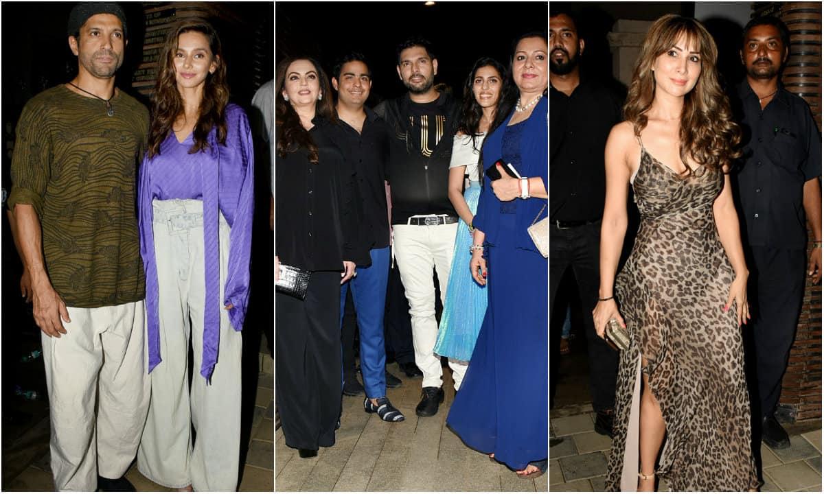 Farhan Akhtar-Shibani Dandekar, Kim Sharma, Shikhar Dhawan, Nita Ambani and others attend Yuvraj Singh's retirement party