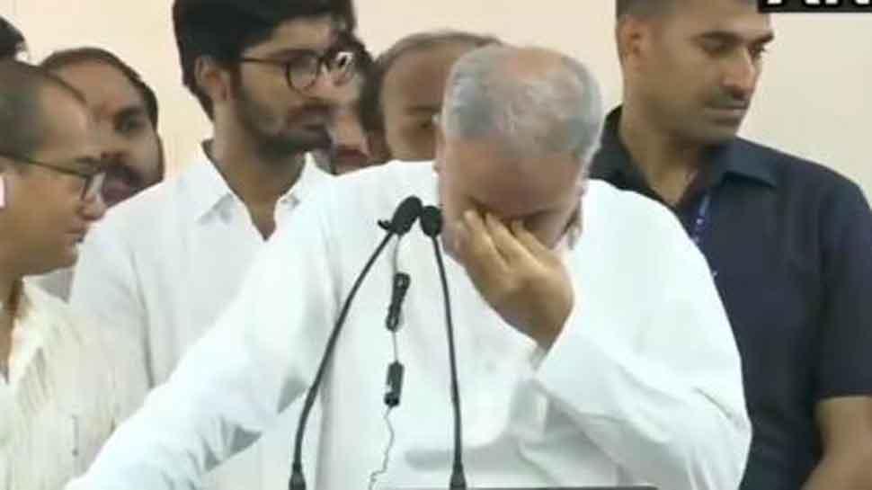 Chhattisgarh CM Bhupesh Baghel tears up while handing over state Congress president post