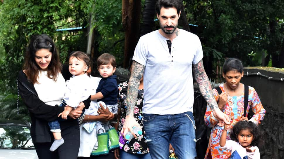 Sunny Leone's day out with hubby and kids hogs limelight—Pics inside