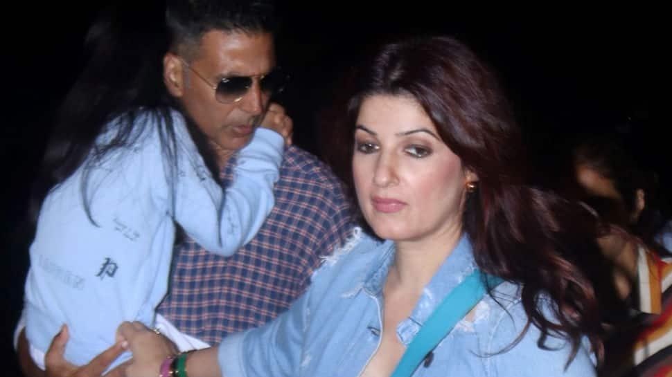 Akshay Kumar, Twinkle Khanna fly to London with daughter Nitara - Pics
