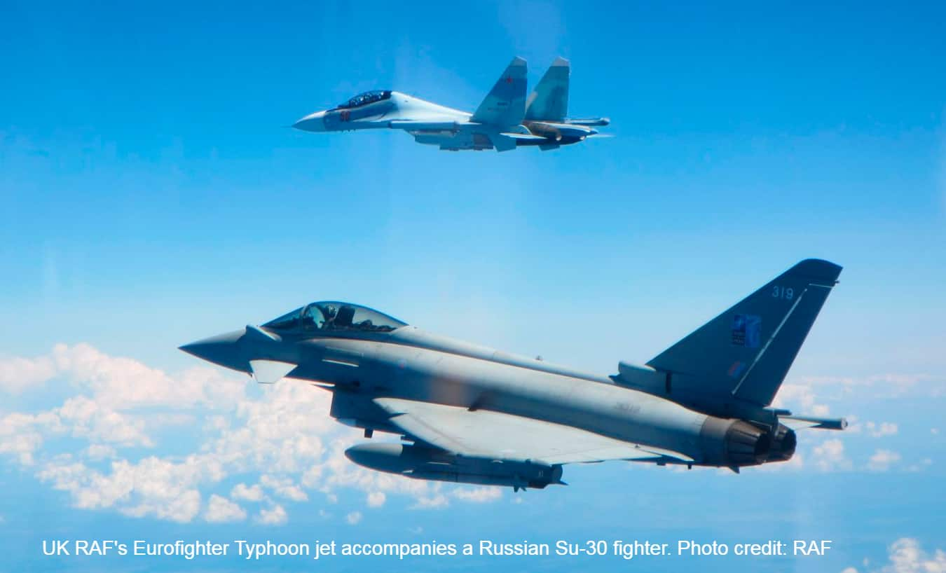 UK's Eurofighter Typhoon FGR4 vs Russia's Sukhoi Su-30 and Su-27: RAF releases photos of face-off near Estonia's airspace