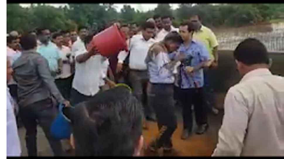 Congress MLA Nitesh Rane arrested for throwing mud on highway engineer