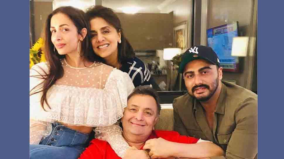 Malaika Arora, Arjun Kapoor visit Rishi Kapoor in New York