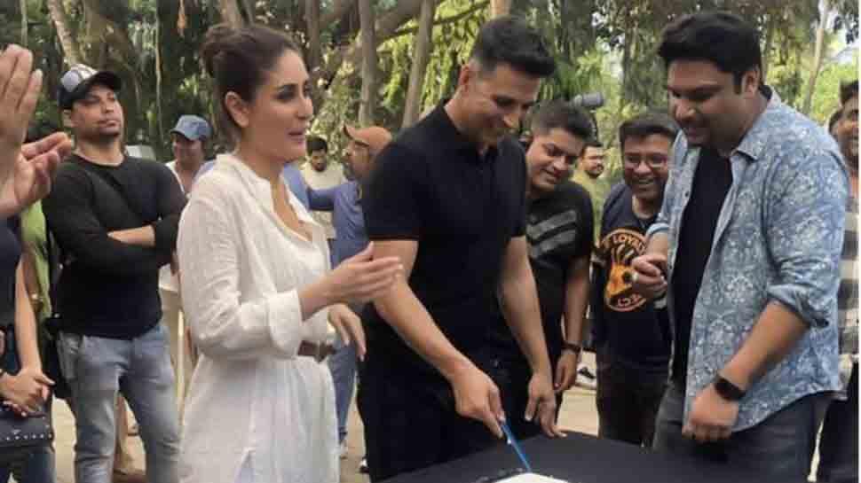Kareena Kapoor, Akshay Kumar cut cake on Good News sets — Take a look