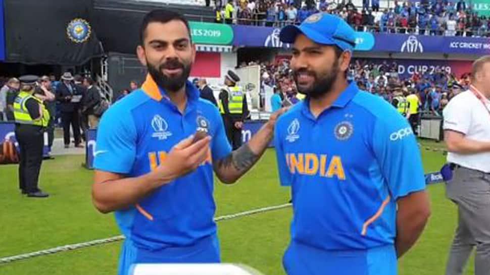 Virat Kohli interviews 'man of the moment' Rohit Sharma - Watch