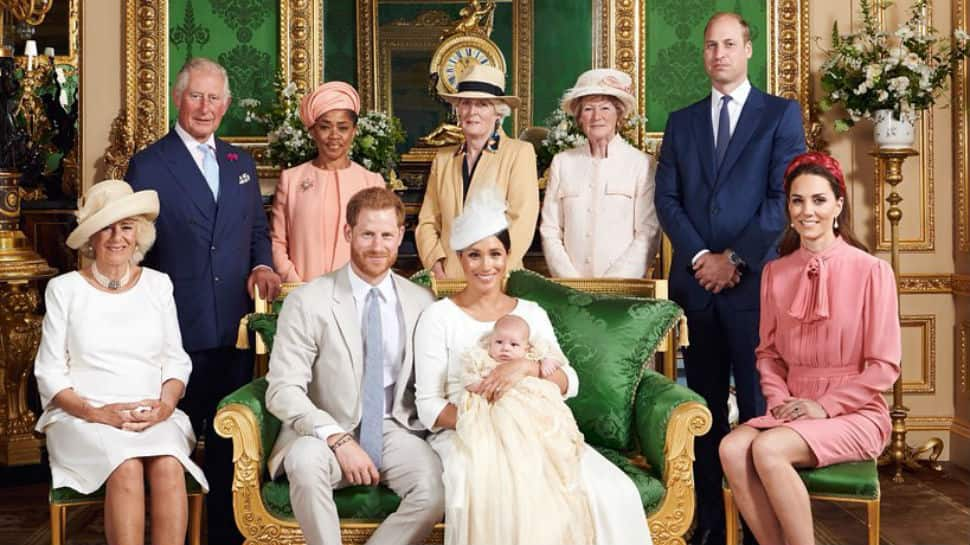 meghan markle prince harry share picture perfect moments from son archie s christening people news zee news meghan markle prince harry share