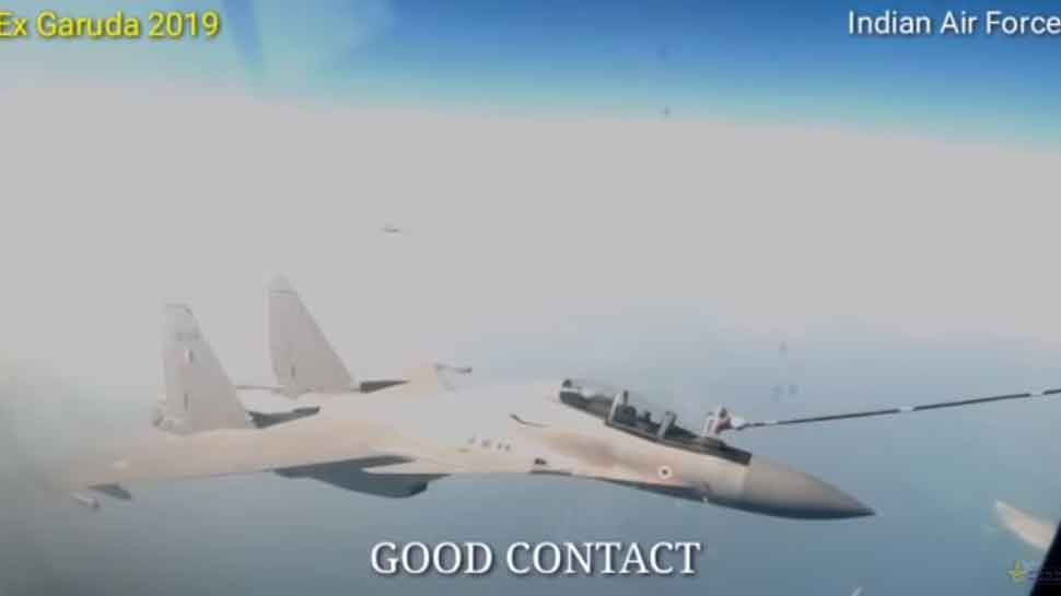 Watch: IAF shares video of air-to-air refueling by Su-30MKI fighter jet from IL-78 FRA