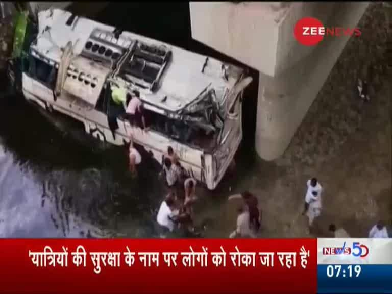 More than 29 Killed in Agra After Bus Falls off Yamuna Expressway