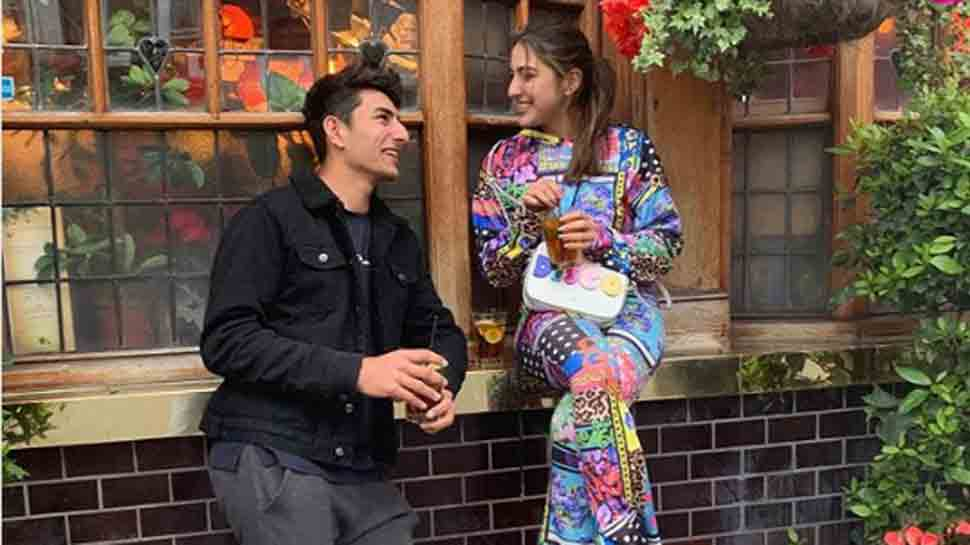 Sara Ali Khan shares adorable picture with Ibrahim Ali Khan from London — Her goofy caption will leave you in splits