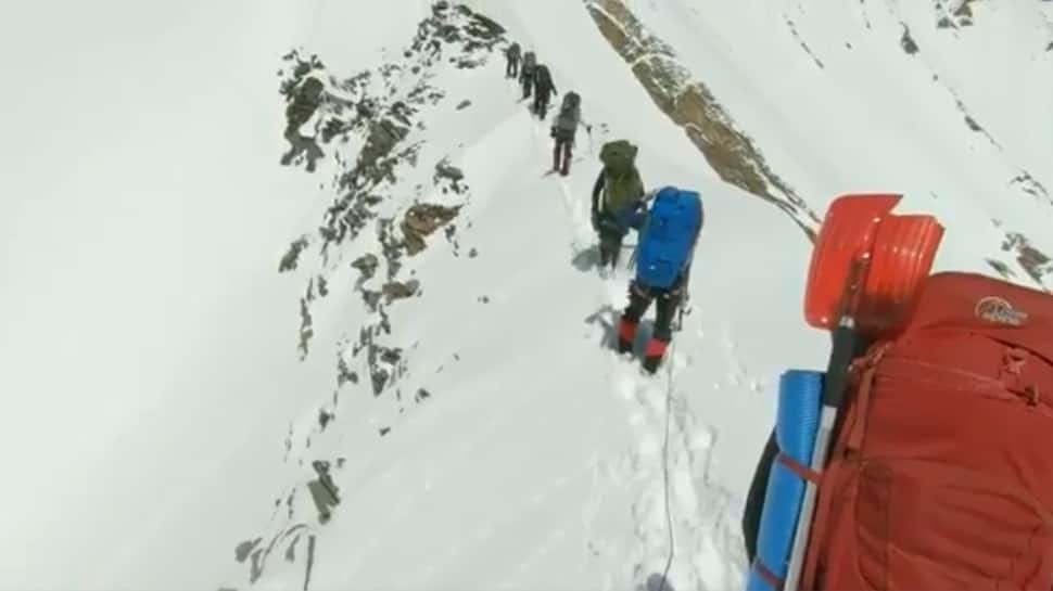 Watch: Last few moments of 8 climbers on Nanda Devi peak recorded on memory video device