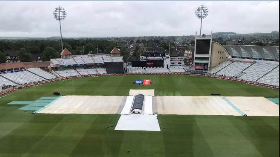 India vs New Zealand semi-final clash called off due to rain, to resume on Wednesday