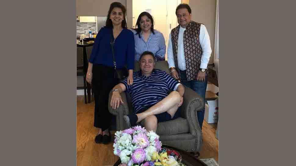 Anup Jalota visits Rishi Kapoor in New York