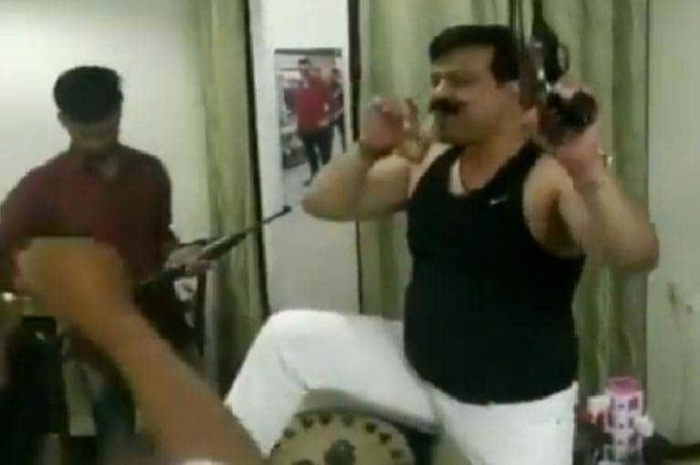 Uttarakhand BJP MLA caught on camera dancing to Hindi songs with guns in hands