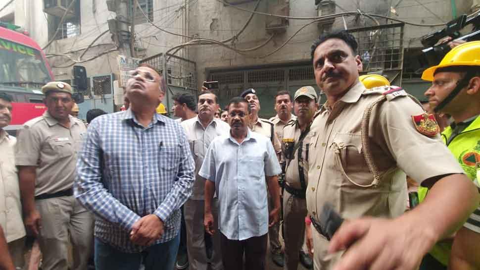 CM Arvind Kejriwal visits Delhi's Jhilmil, announces Rs 5 lakh compensation for kin of those killed in fire