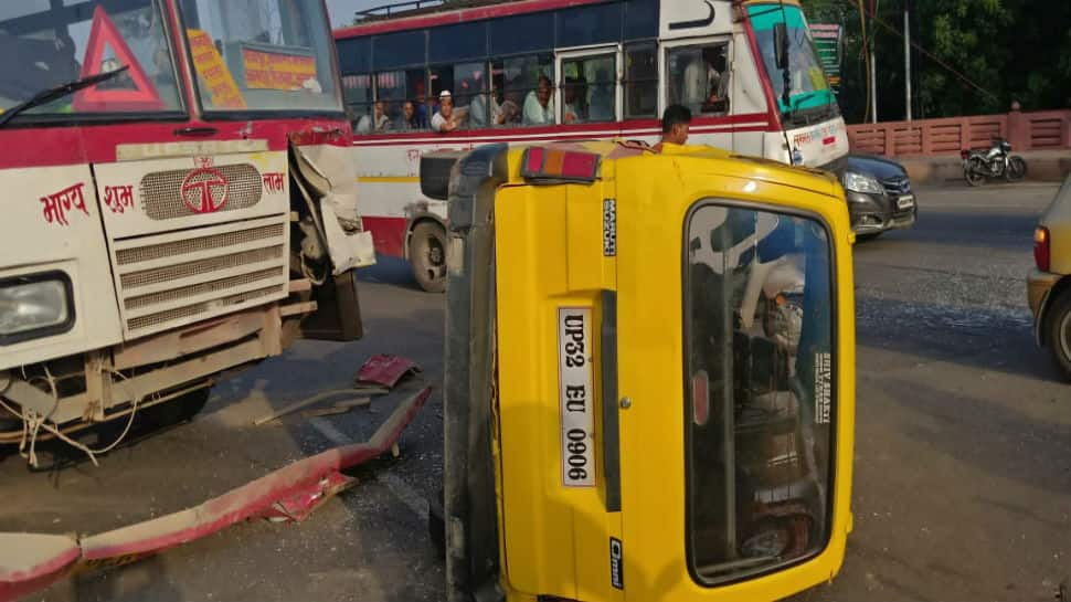 Bus rams into school van in Lucknow, at least four children injured