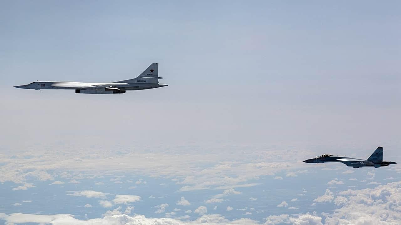 Finland's F/A-18 C/D Hornets intercept Russian Sukhoi Su-35, Tu-160 bomber, A-50 jet