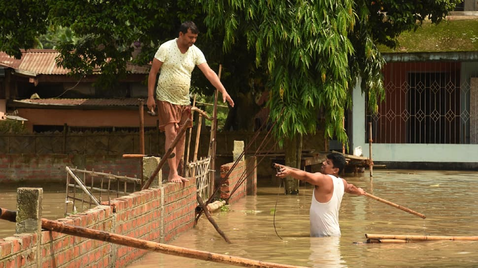 At least 27 killed, over 55 lakh affected as flood waters inundate 29 districts of Assam