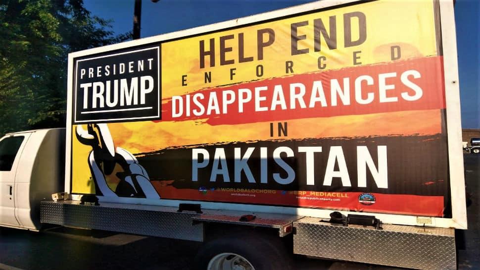 Protests against atrocities in Balochistan greet Imran Khan in Washington