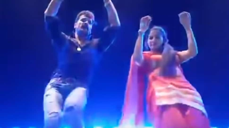 Sapna Choudhary and Khesari Lal Yadav's crazy dance moves set the stage on fire—Watch