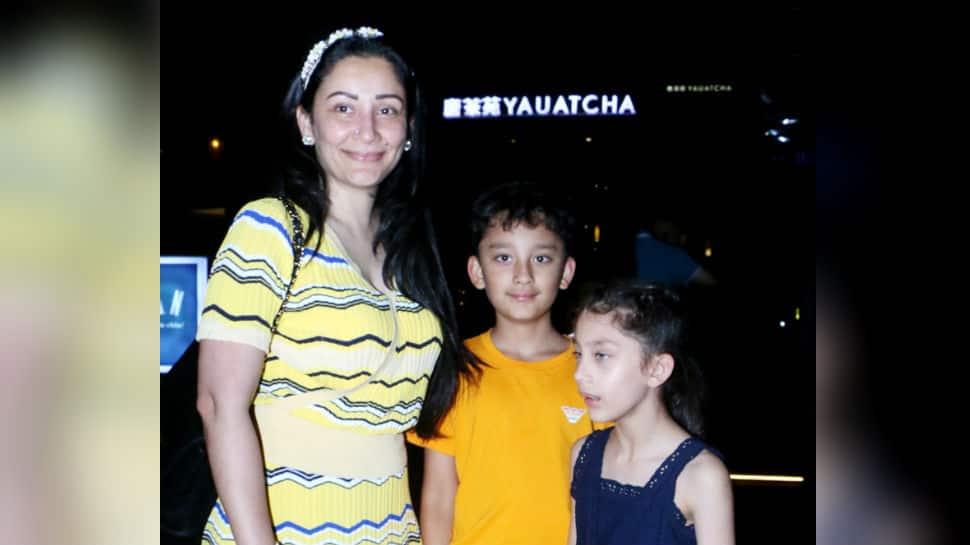 Maanayata Dutt celebrates birthday with kids Shahraan and Iqra - Pics