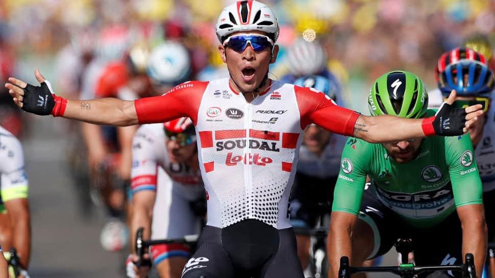 Tour de France: Caleb Ewan claims second stage win as Geraint Thomas takes minor tumble