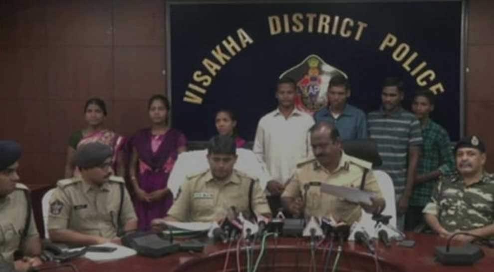 Seven Naxals surrender before Andhra Pradesh Police in Visakhapatnam
