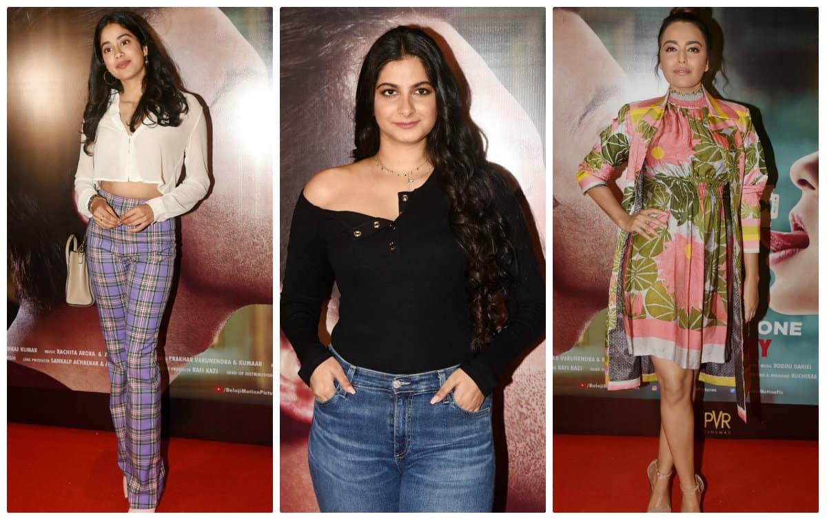 Janhvi Kapoor, Rhea Kapoor, Swara Bhasker watch Kangana Ranaut and Rajkummar Rao's 'Judgementall Hai Kya'