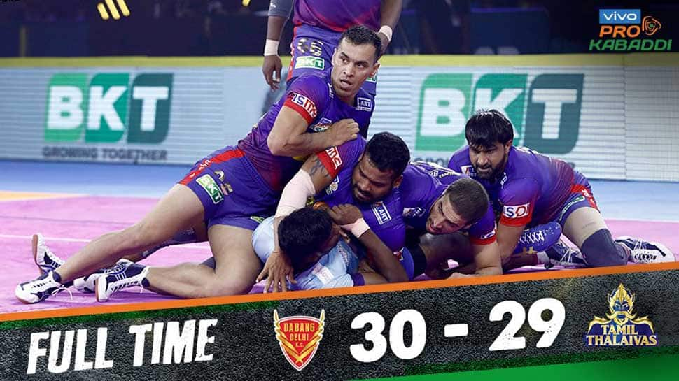 PKL 2019: Naveen Kumar shines as Delhi Dabang remains unbeaten against Tamil Thalaivas