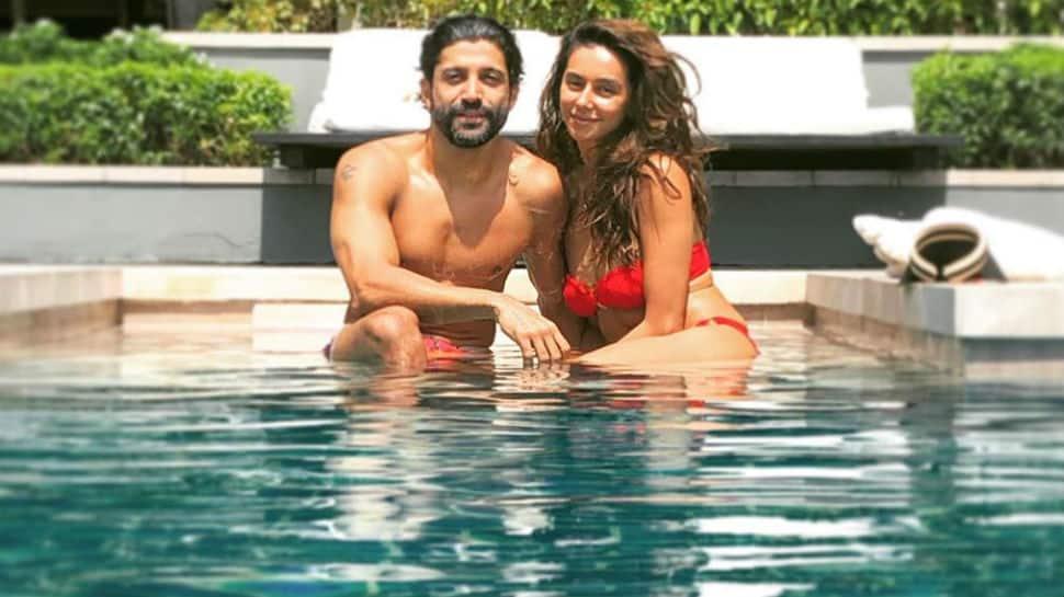 Shibani Dandekar sizzles in red bikini as she holidays in Thailand with boyfriend Farhan Akhtar - Pics