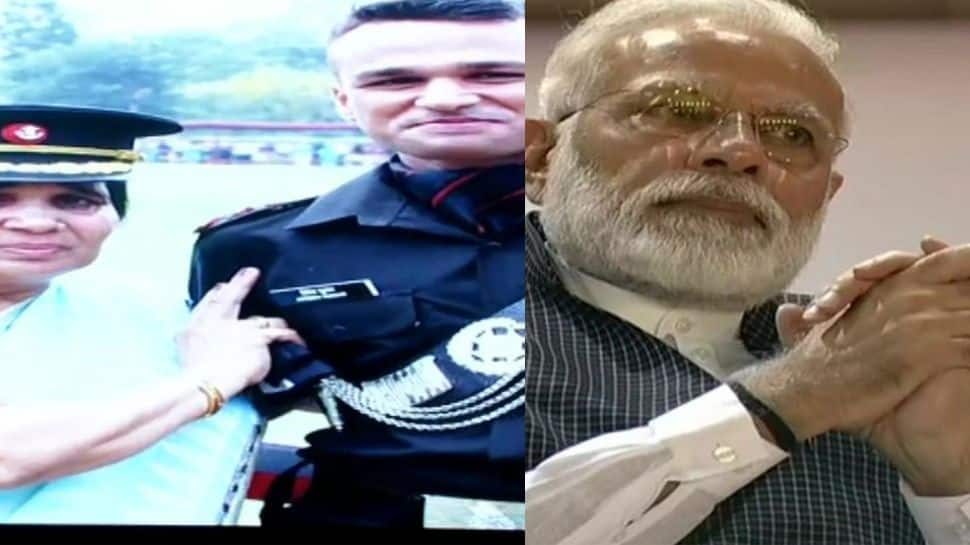 Kargil Vijay Diwas: PM Modi gets emotional on seeing war martyr's wife and Army officer son, who joined father's battalion