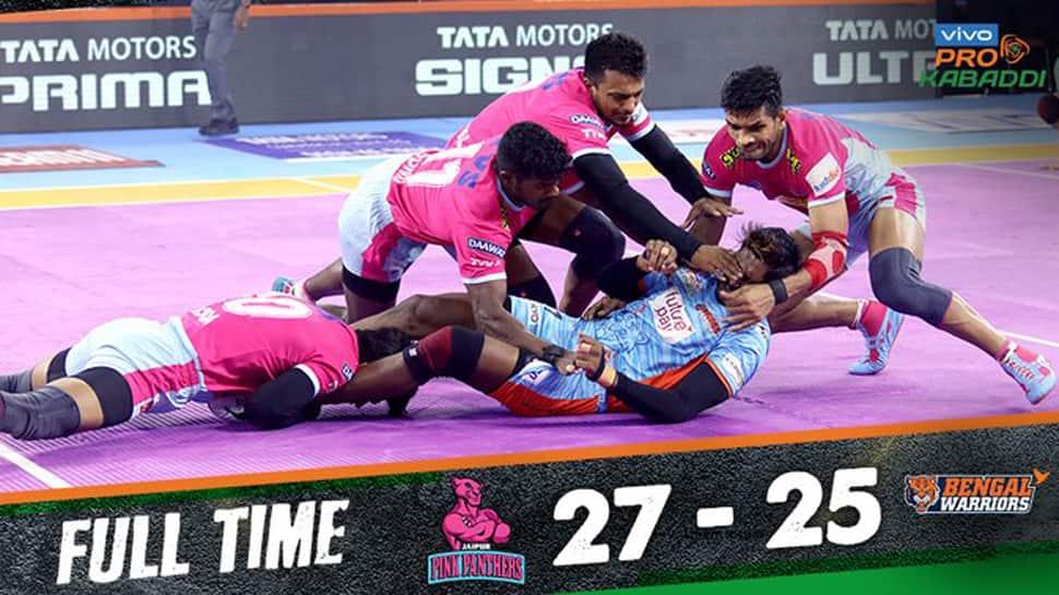 PKL 2019: Jaipur Pink Panthers beat Bengal Warriors in thriller