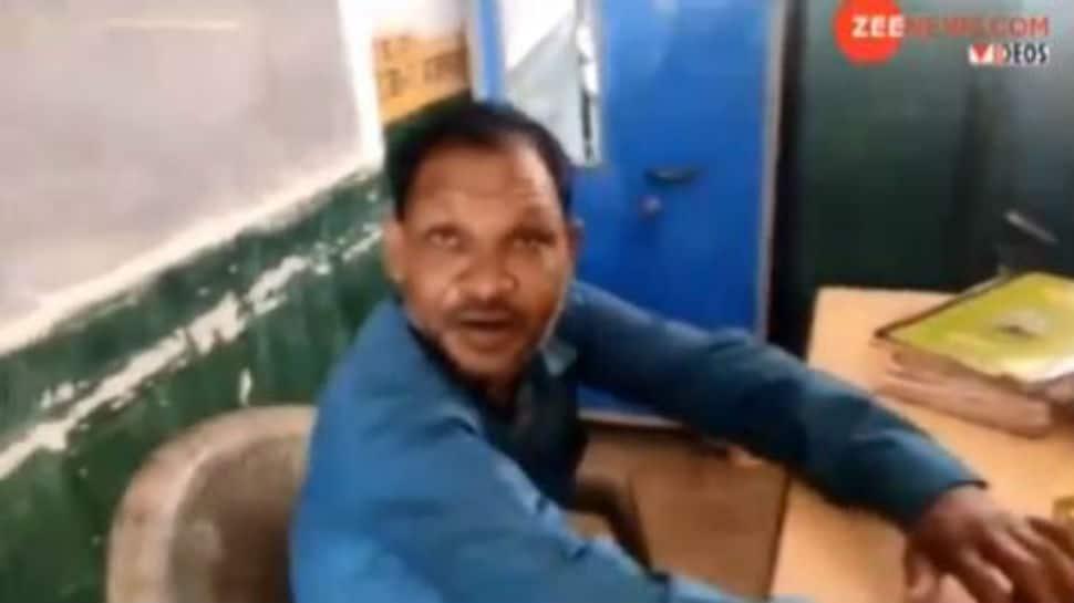 High spirited lessons: Drunk Chhattisgarh teacher caught on camera