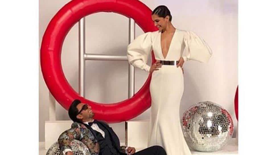 Ranveer Singh cannot take his eyes off Deepika Padukone in this throwback picture-See inside