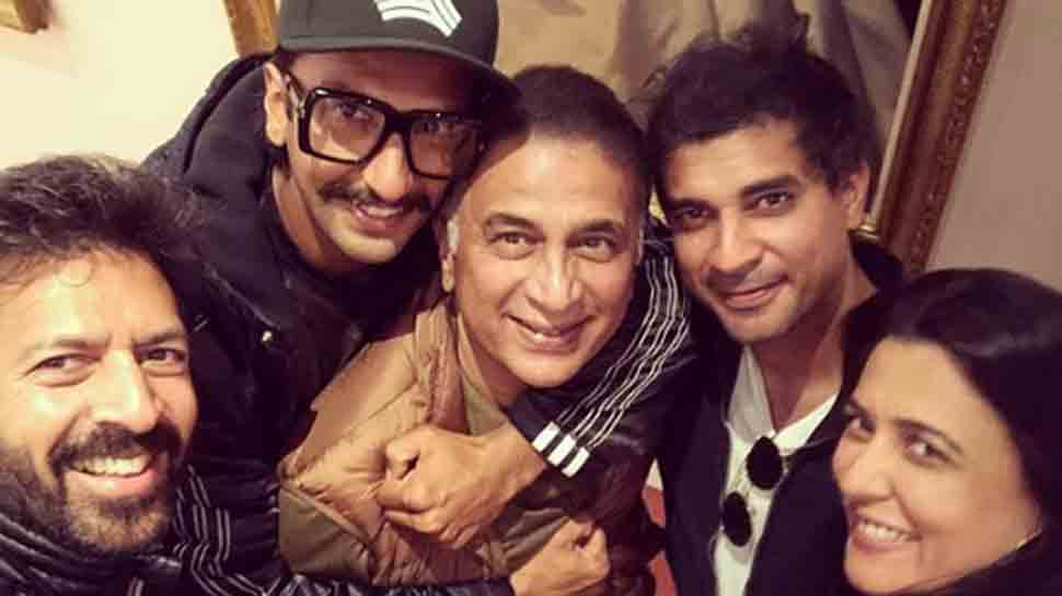 Sunil Gavaskar visits sets of Ranveer Singh starrer '83' in England