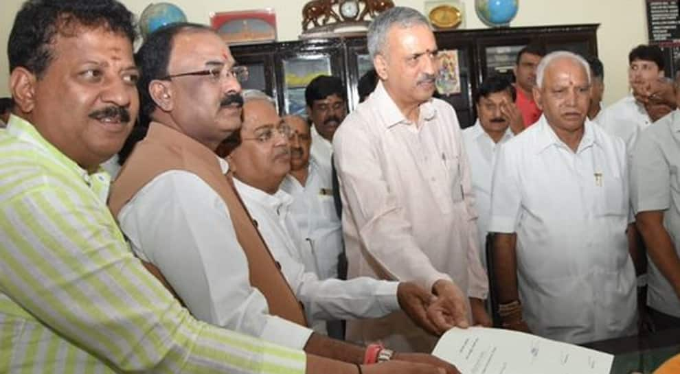 BJP MLA Vishweshwar Hegde Kageri files nomination for Karnataka Assembly Speaker